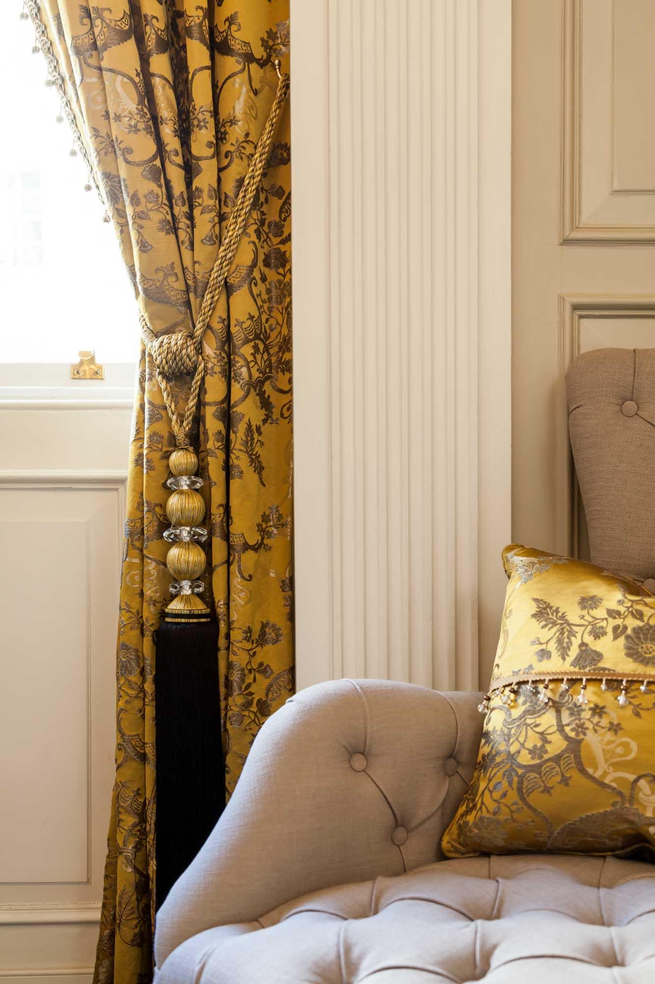 jonathan bond photography, gold curtain tassel tieback, hyde park, london