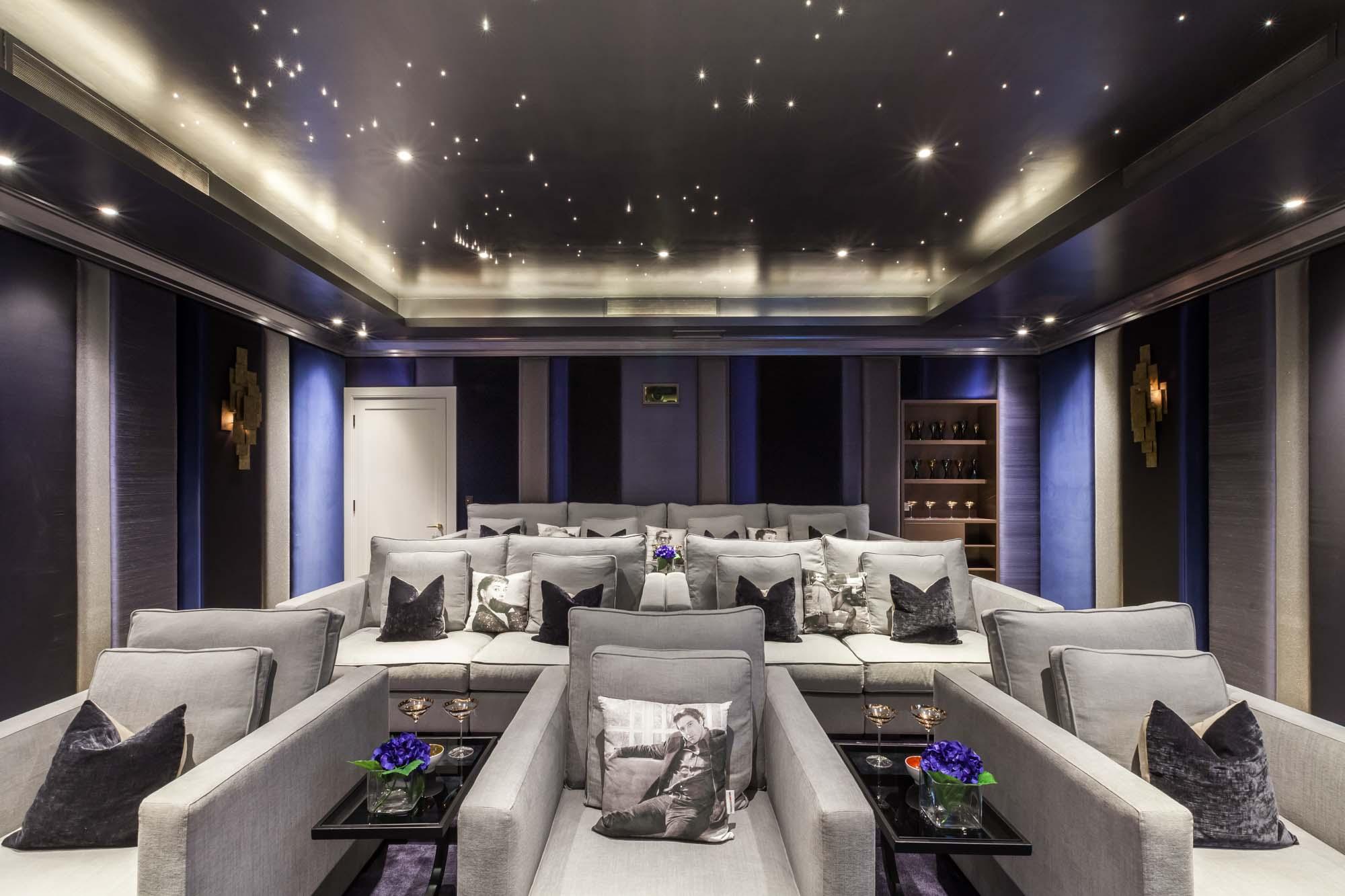 jonathan bond photography, home cinema fabric seating, hyde park, london