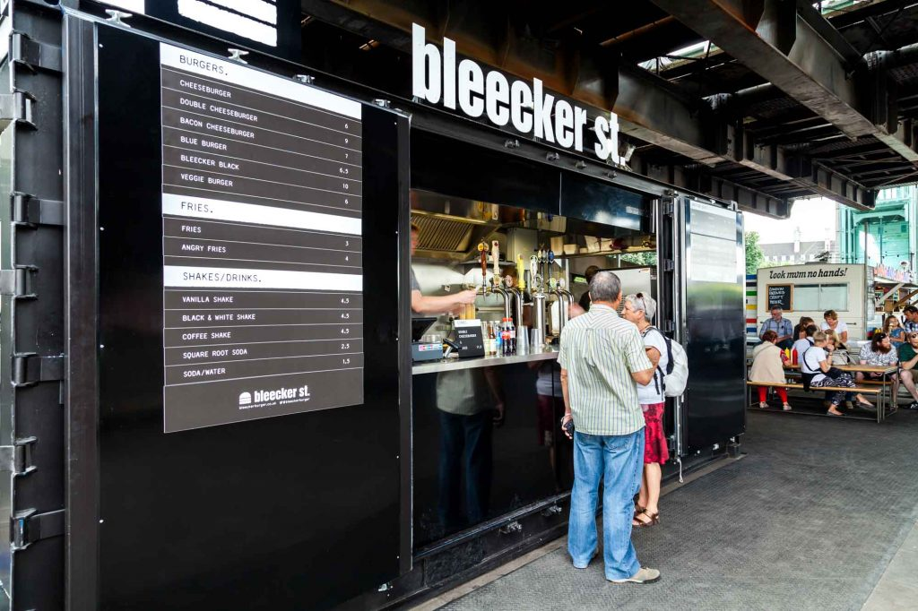 Bleeker Burger - Jonathan Bond Photography, Bleeker Burger, Interior Photography, Commercial, Restaurant, Container, Photography, Tessuto Interiors