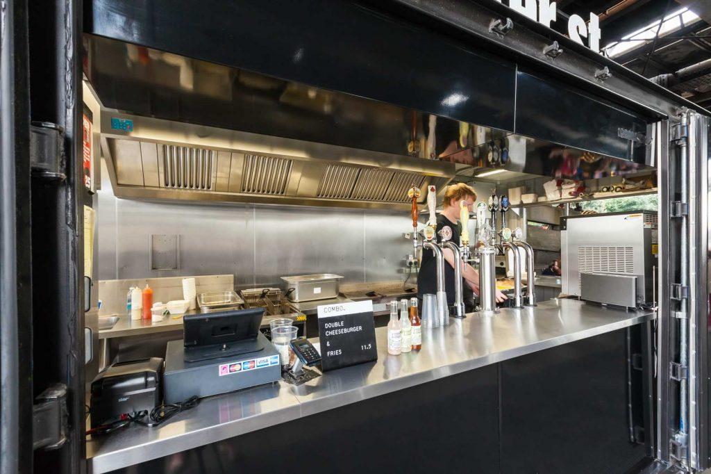 Bleeker Burger - Jonathan Bond Photography, Bleeker Burger, Interior Photography, Commercial, Restaurant, Container, Photography, Tessuto Interiors