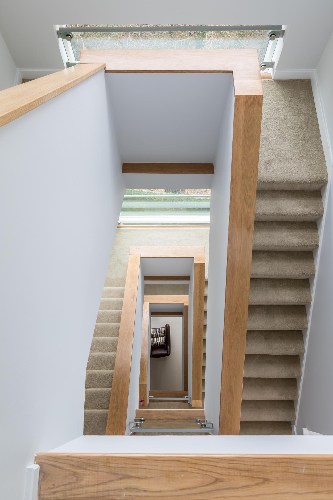 jonathan bond photography, sara slade interiors, modern banisters, cambridgeshire