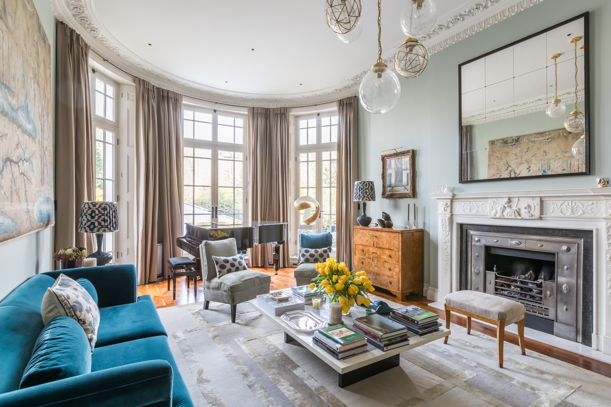 jonathan bond, interior photographer, living room, holland park, london