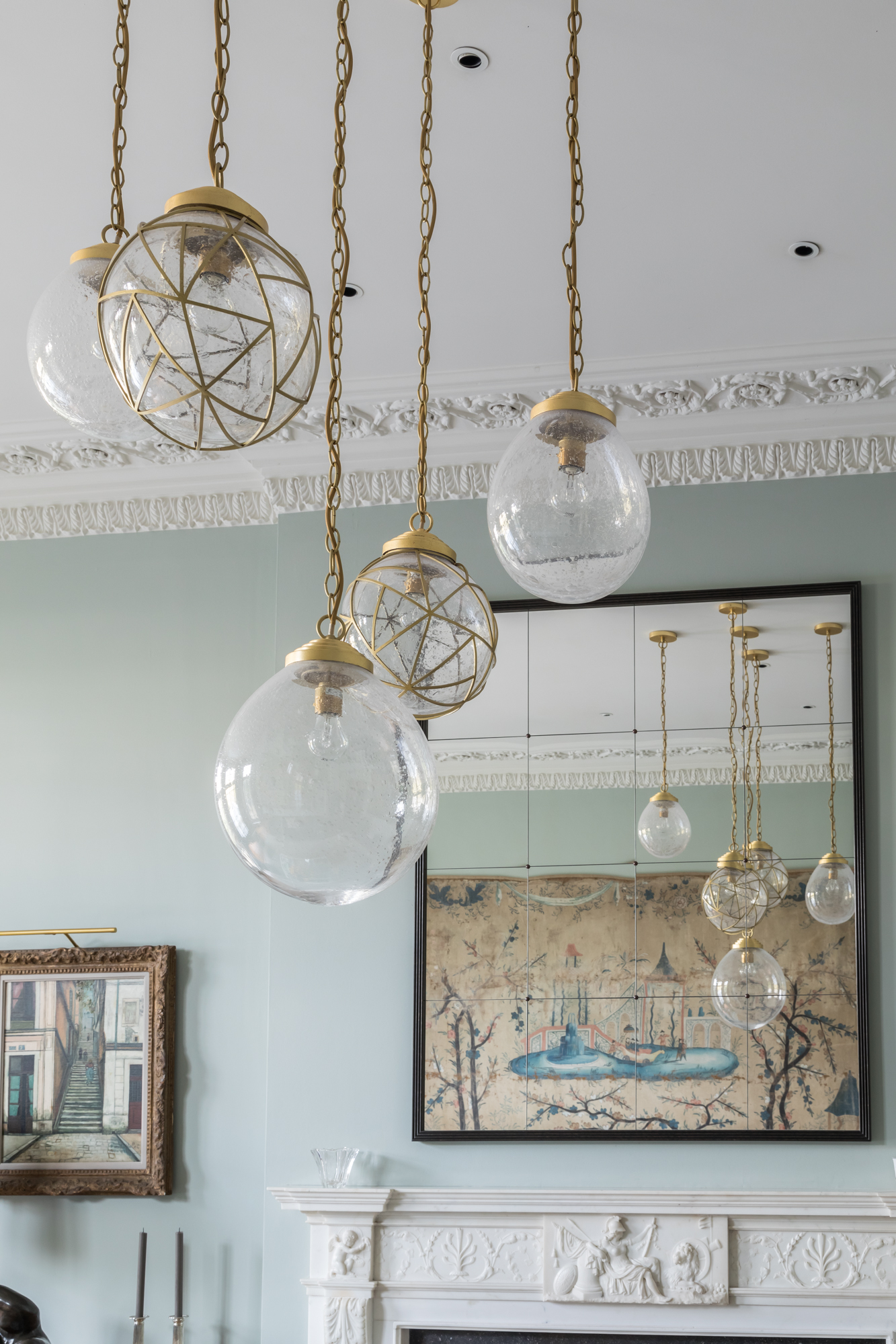 jonathan bond, interior photographer, contemporary ceiling pendant lighting, holland park, london