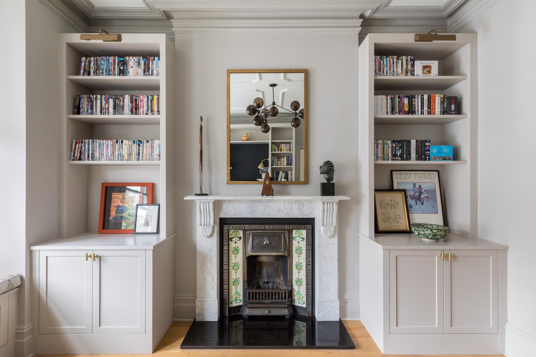 jonathan bond, interior photographer, marble fireplace, ealing, london