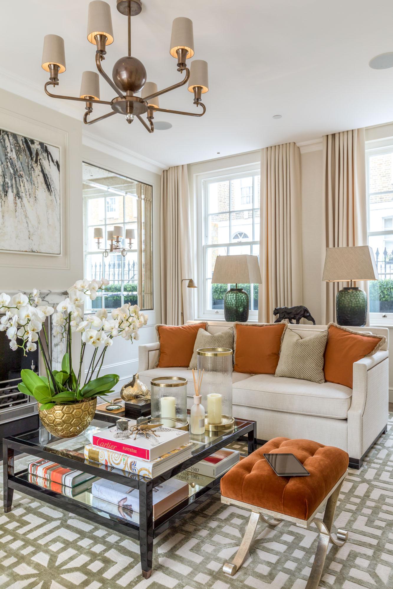 jonathan bond, interior photographer, living room, chelsea, london