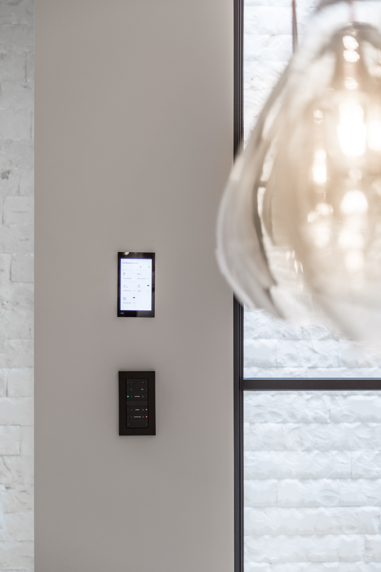 jonathan bond, interior photographer, electronic gadget on wall, chelsea, london