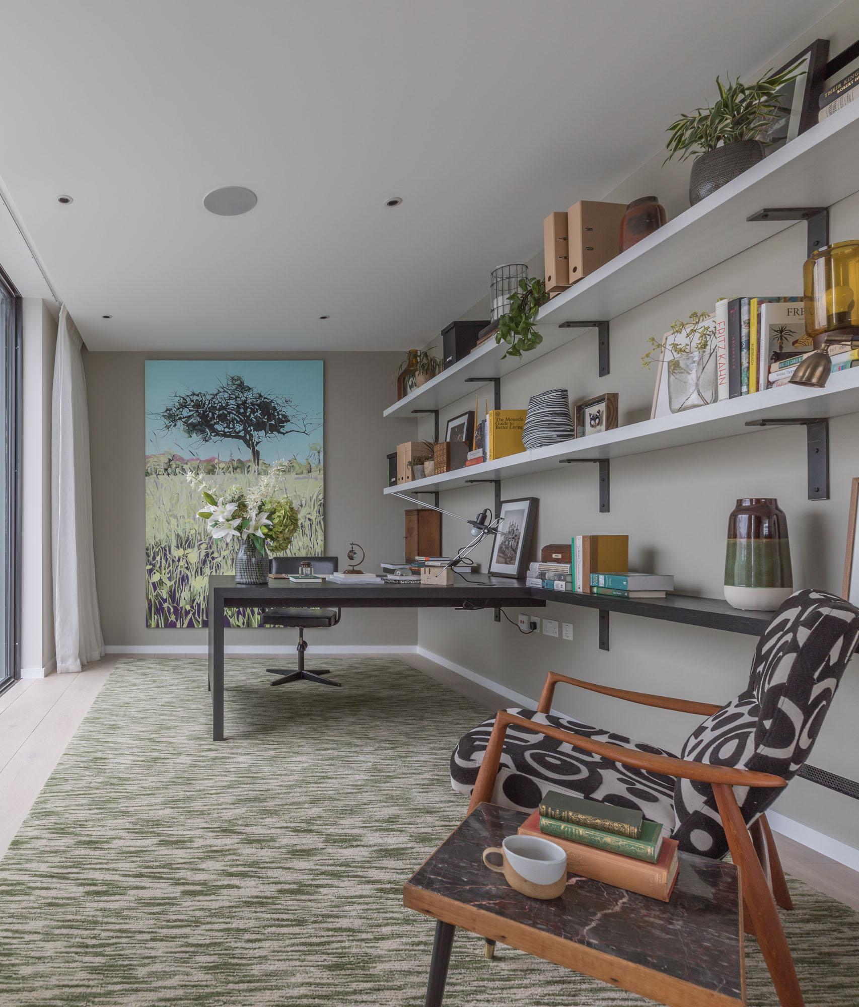 jonathan bond, interior photographer, study room, battersea, london