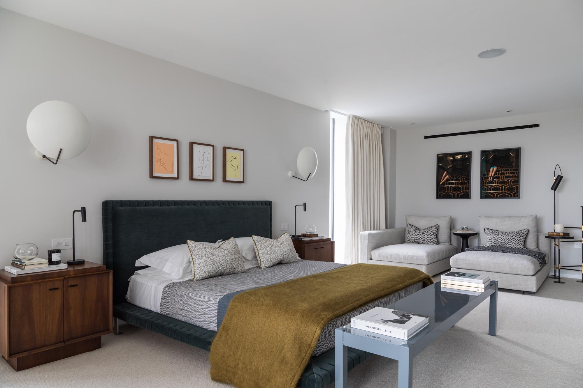 jonathan bond, interior photographer, master bedroom, battersea, london