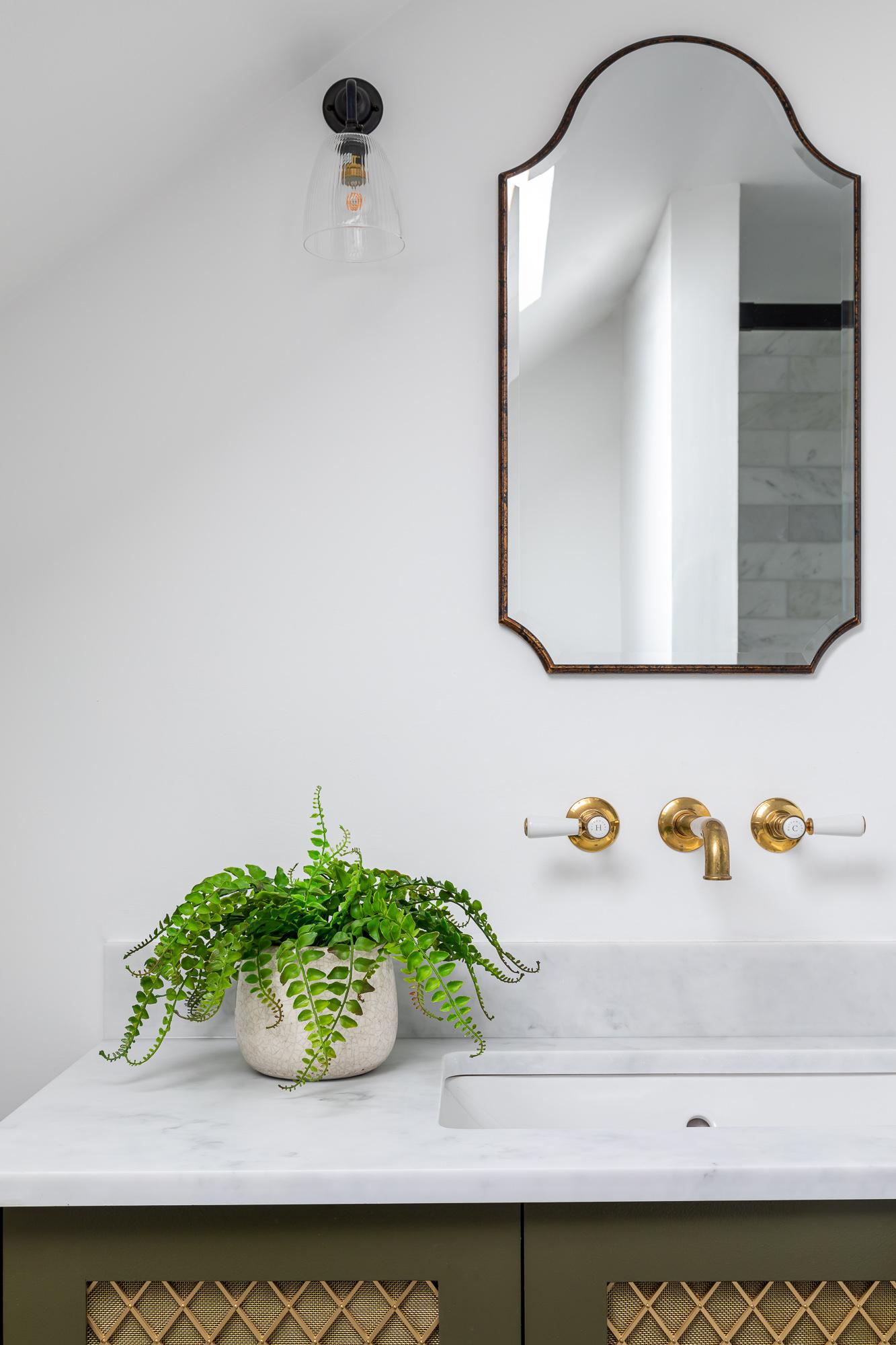 jonathan bond, bathroom wall mirror, clapham, london