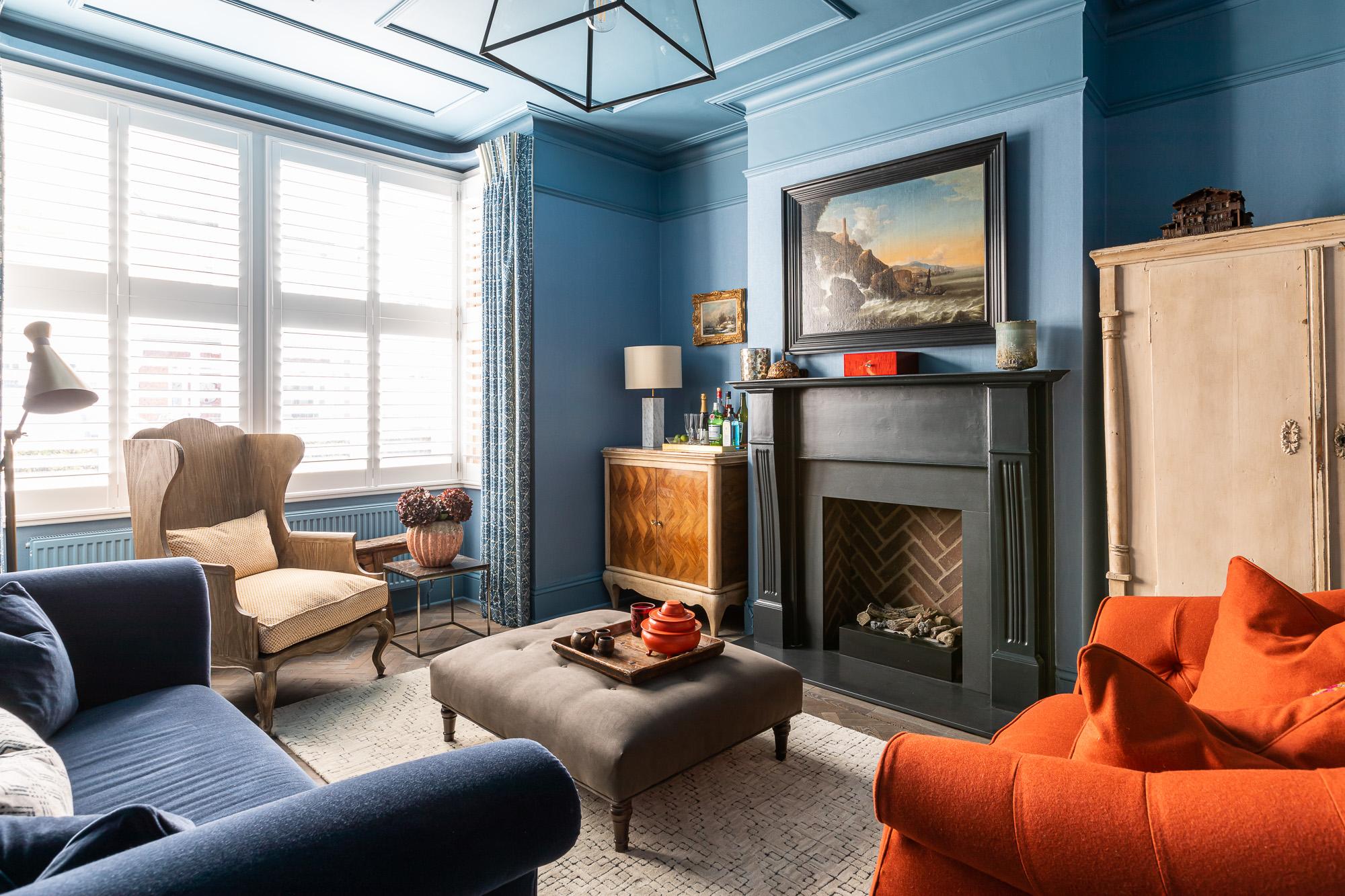 jonathan bond, interior photographer, living room ottoman, clapham, london