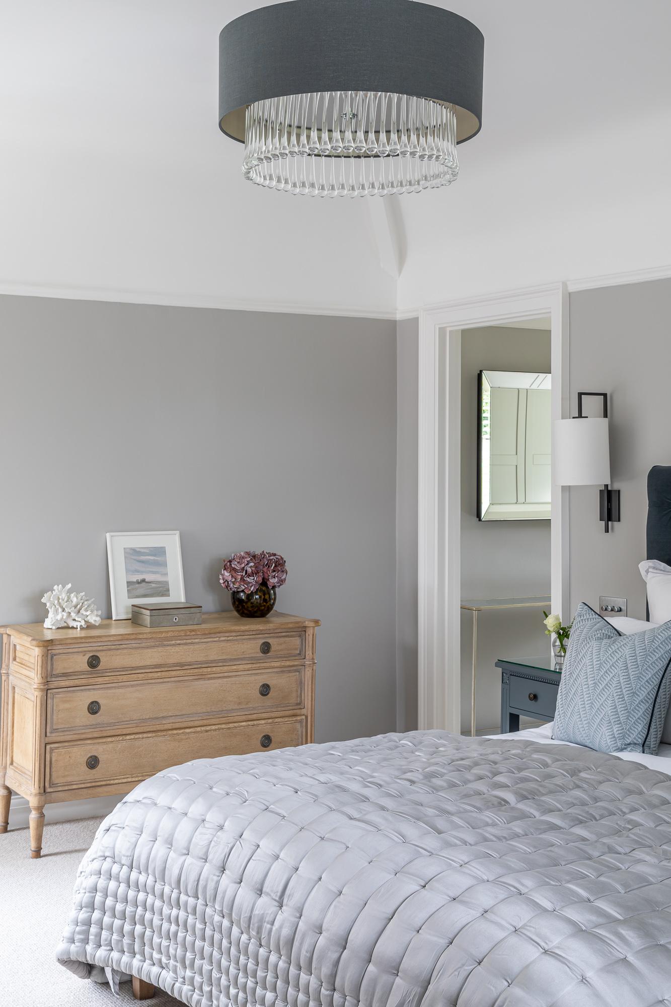 jonathan bond, interior photographer, bedroom light shade, great missenden, buckinghamshire