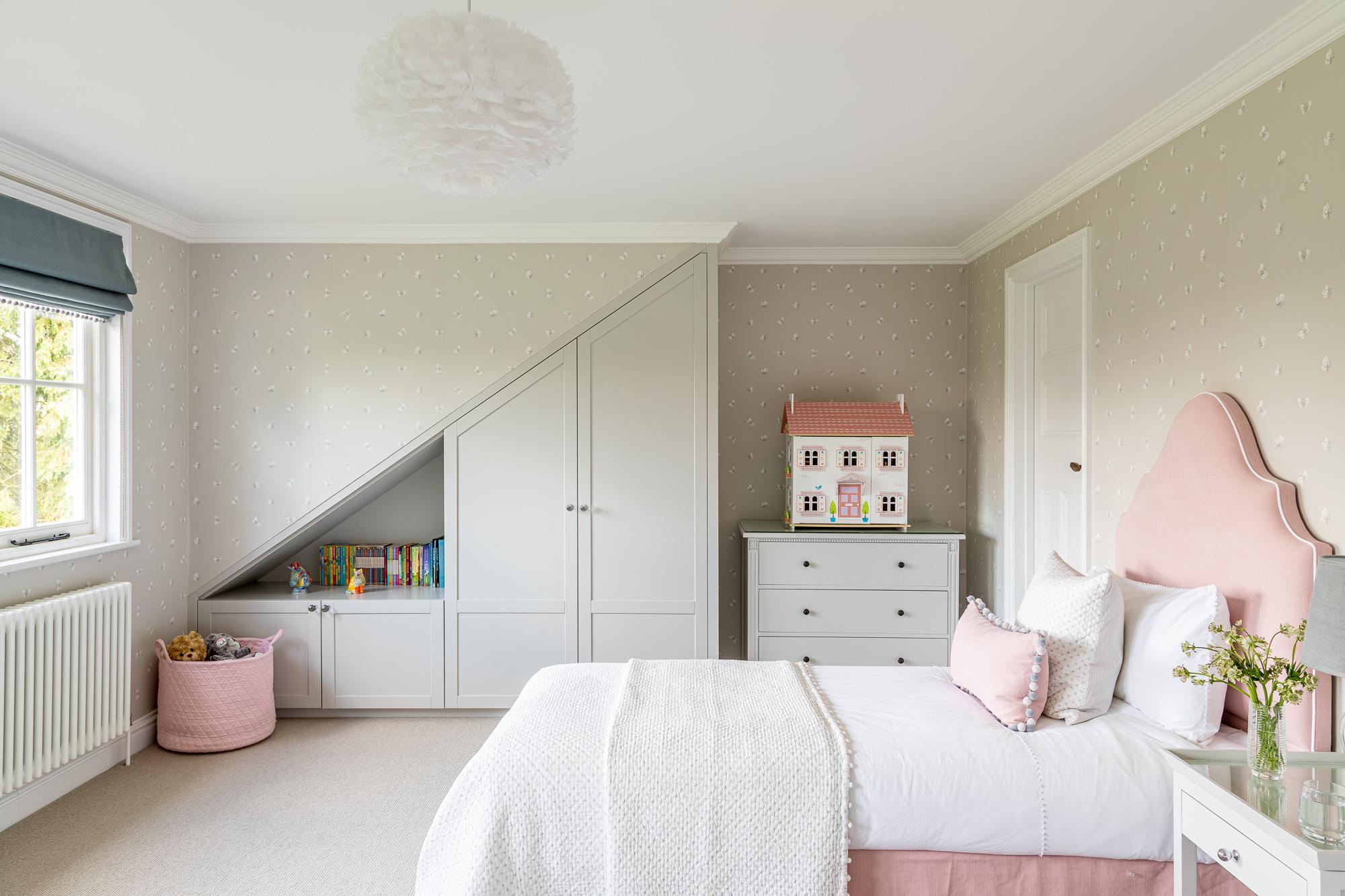 jonathan bond, interior photographer, childs bedroom double bed, great missenden, buckinghamshire