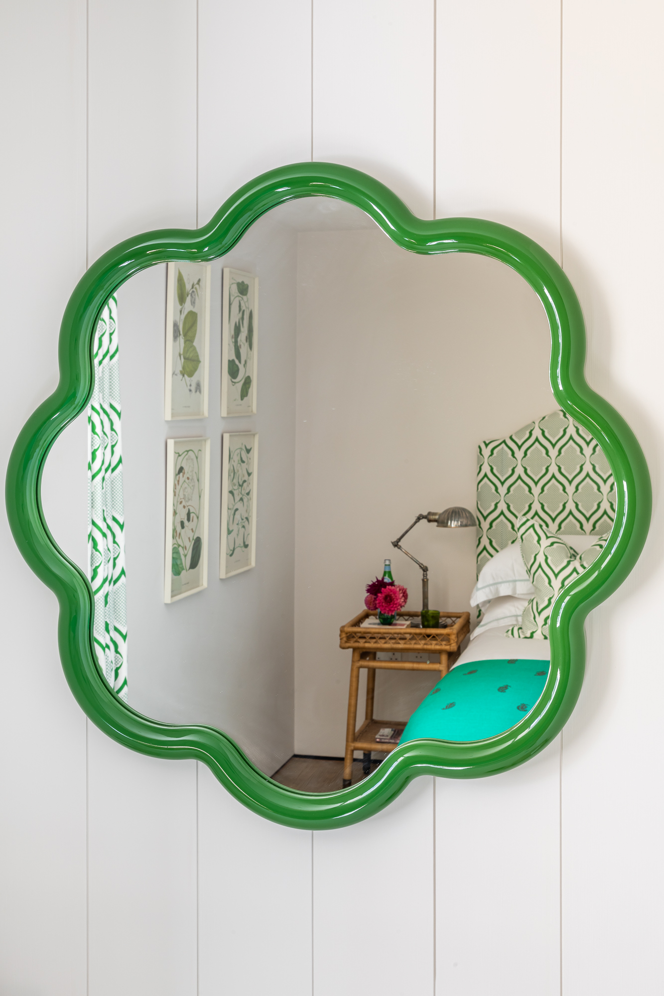 jonathan bond, interior photographer, green framed mirror marnhull