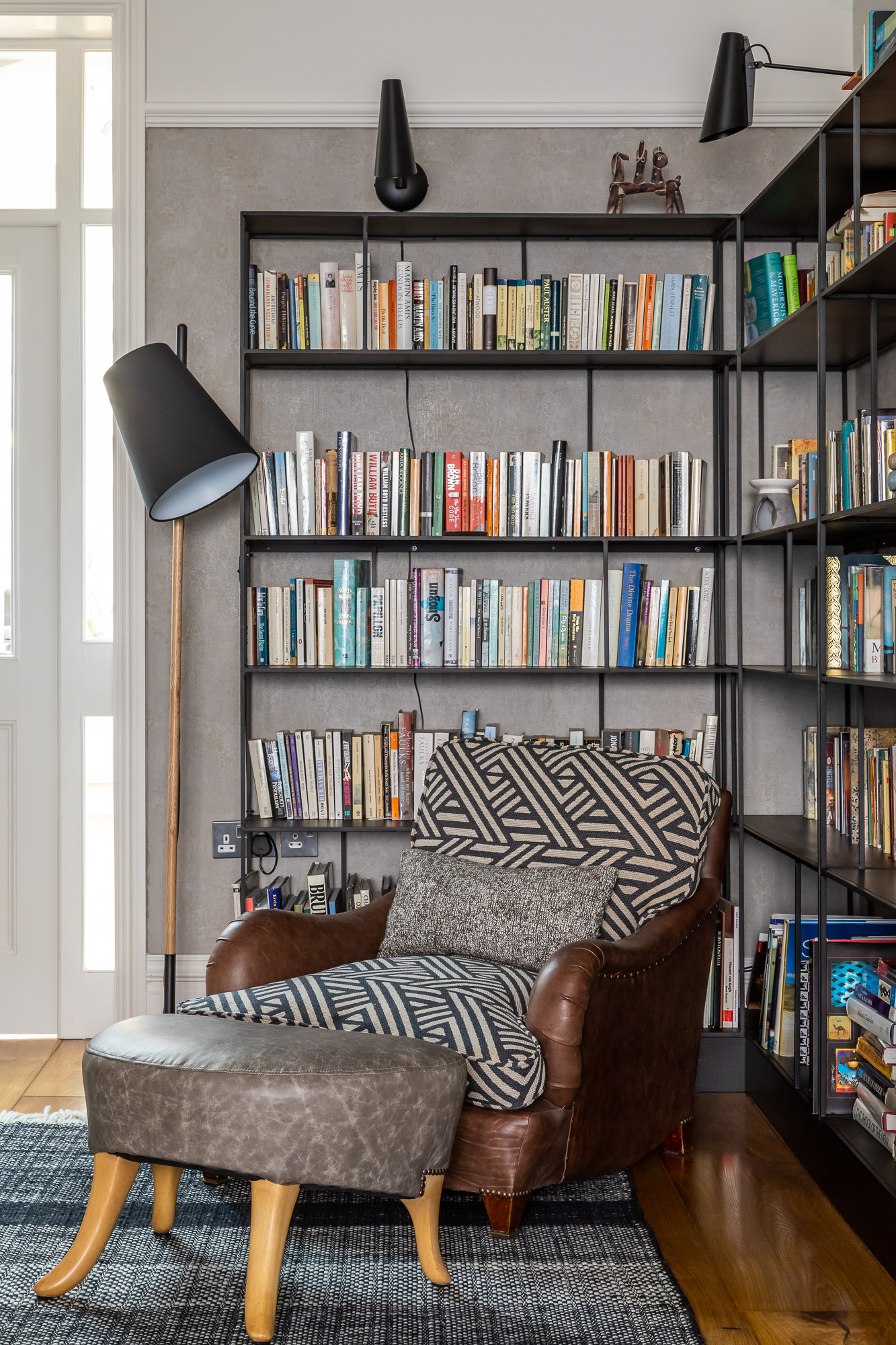 jonathan bond, interior photographer, armchair & reading floor lamp, mill road, cambridge