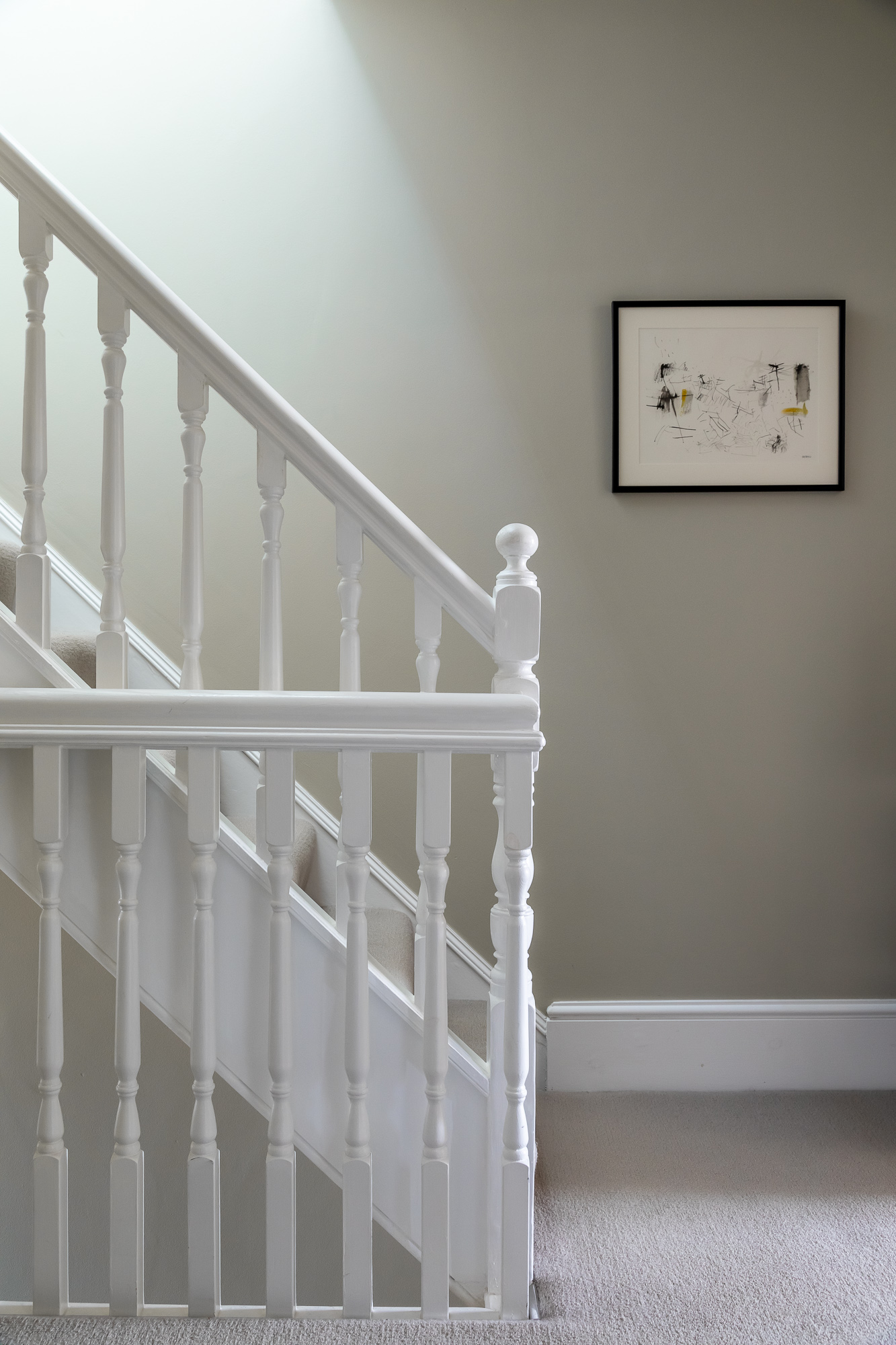 jonathan bond, white stairs & banisters, mill road, cambridge