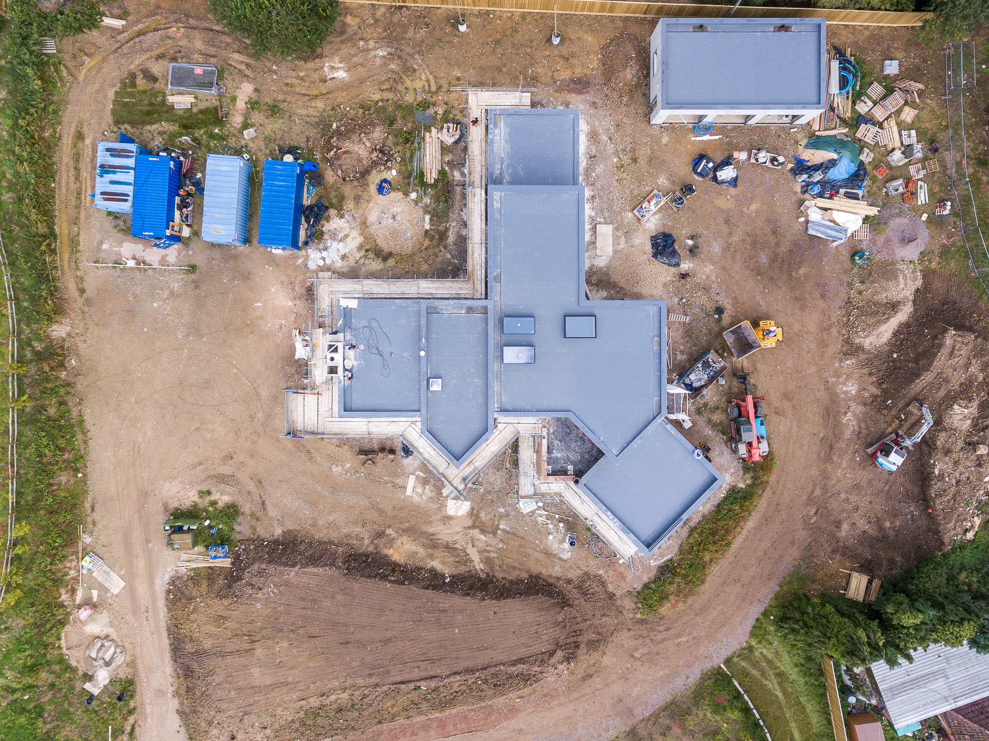 jonathan bond aerial photographer, overhead view of building site using drone