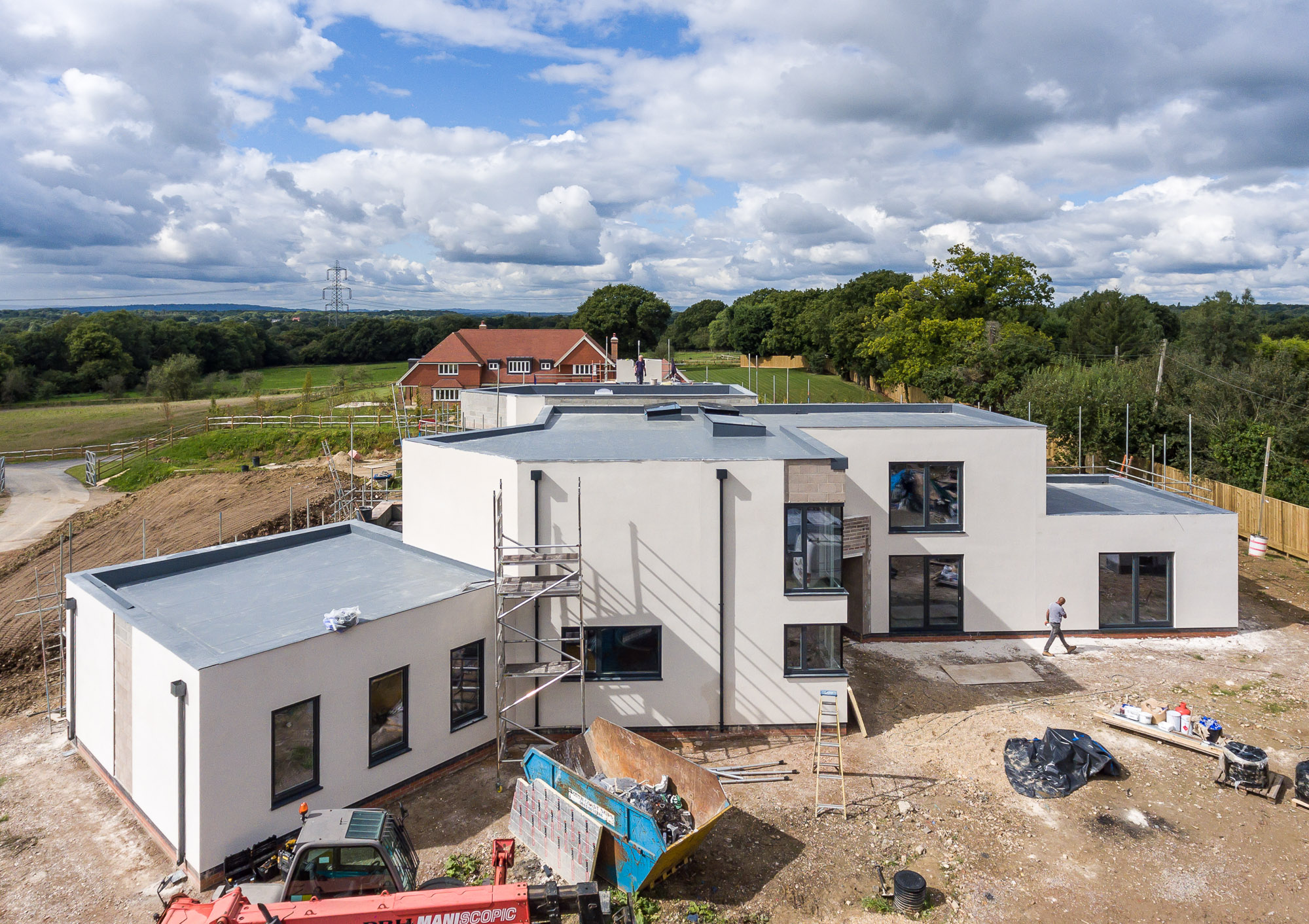 jonathan bond aerial photographer, view of building site using drone
