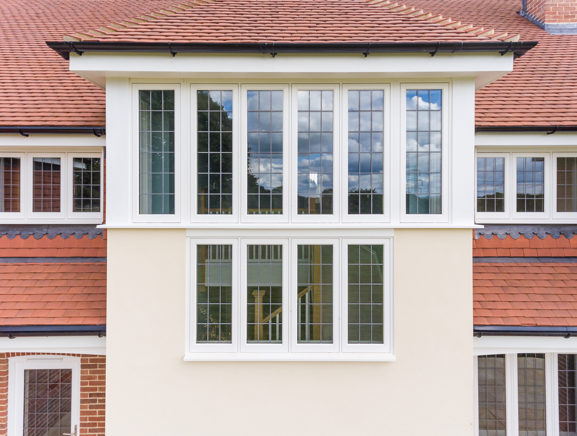 jonathan bond photography, aerial drone view of windows of residential house